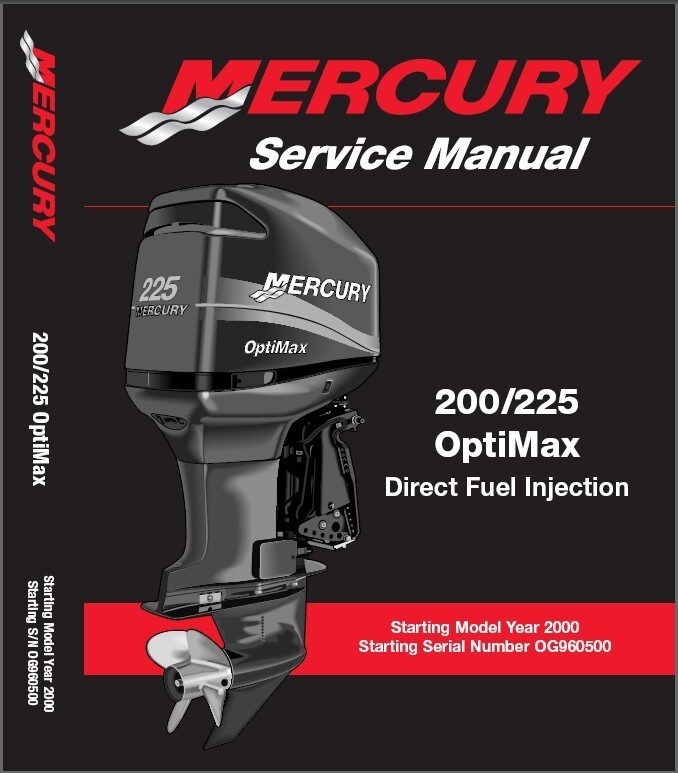 Mercury 200 225 OptiMax DFI Outboards Service Manual CD