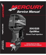 Mercury 200 225 OptiMax DFI Outboards Service Manual CD - $12.00