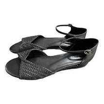 BANDOLINO Women's Black Kendric Woven Sandals Size 9 - $39.60