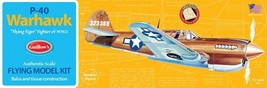 Guillow's Curtiss P-40 Warhawk Balsa Wood Model Airplane Kit WWII Plane ... - $20.78