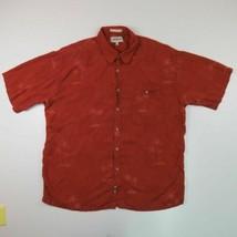Campia Moda Red Tropical Print Short Sleeve Camp Hawaiian Shirt Adult XL Men's - $12.82