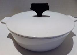 Vintage Corningware Buffet Server White Black Knob 1 Quart Corelle - $22.20