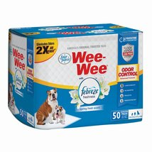 """Four Paws Wee-Wee Odor Control with Febreze Freshness Pads 50 count White 22"""" x  - $20.49"""