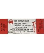 Miss Asian Las Vegas Tropicana Theater 10/12/2013 Ticket Stub - $3.95