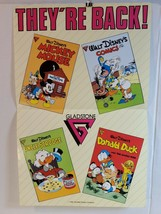 Vintage COMMERCIAL COMICS POSTER 1986 17x11 DONALD DUCK MICKEY UNCLE SCR... - $15.00