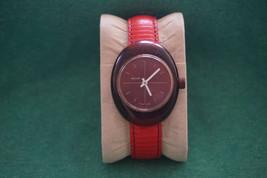 Vintage 1960s? Mechanical Watch Swiss Buler Basis Movement Unique Red De... - $20.98