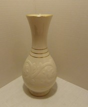 Lenox USA Rare Ivory and Gold Trim Vase Pattern 2078 Blue/Green Mark 193... - $69.98