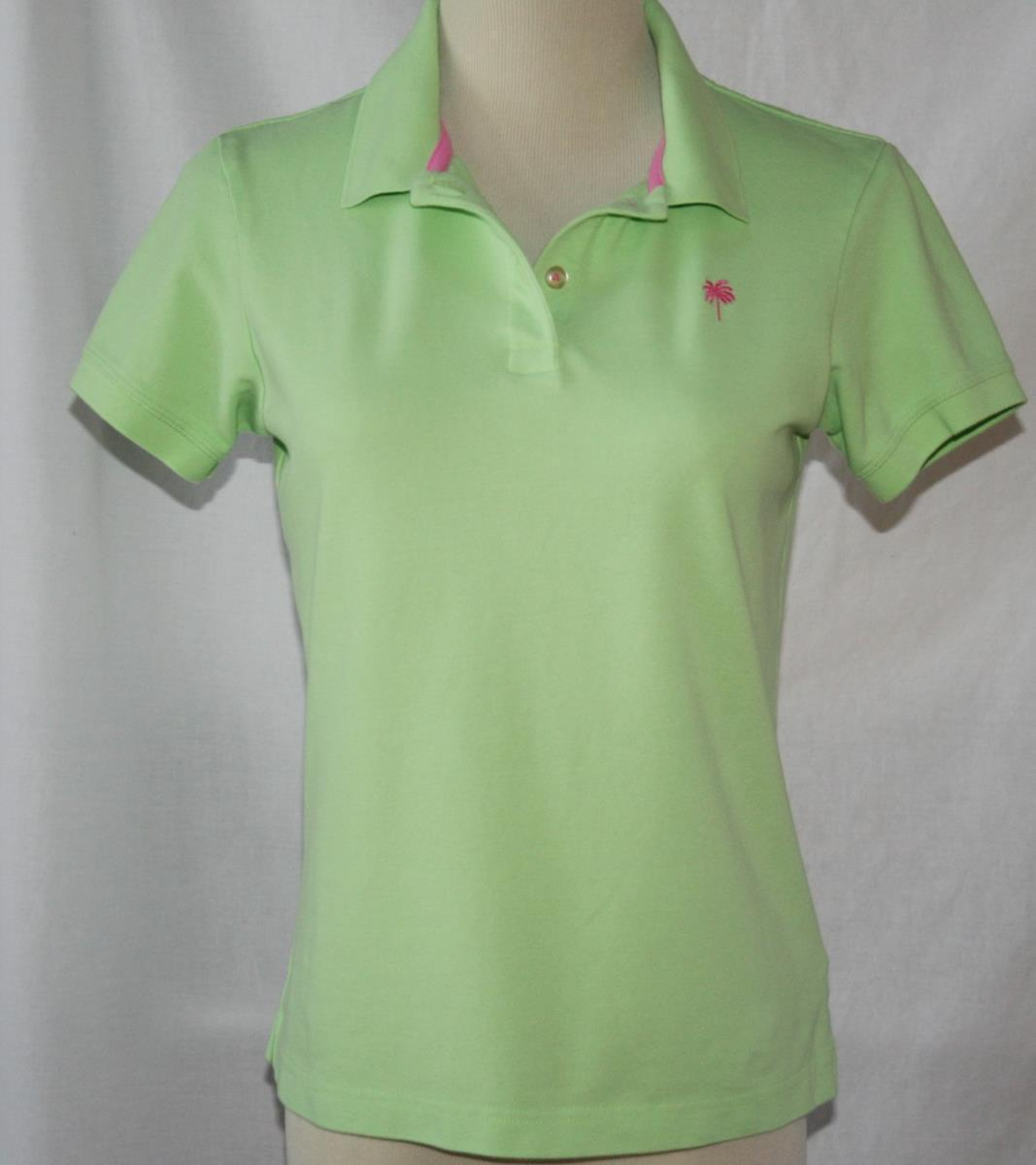 1d0a335578fc9c Lilly Pulitzer Green Cotton Spandex Polo and 50 similar items. S l1600