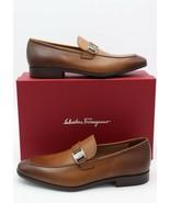 NIB Salvatore Ferragamo Benson Brown Burnished Leather Loafers 10.5 43.5 E - $344.99