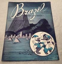 "VINTAGE 1942 SHEET MUSIC WALT DISNEY MOVIE ""SALUDOS AMIGOS"" BRAZIL DONAL... - $25.73"