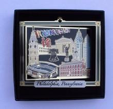 Philadelphia Brass Ornament Rocky Liberty Bell Stadium Flag Leatherette ... - $16.00