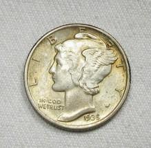 1935-P Silver Mercury Dime VCH UNC Coin AG568 - $21.22