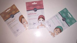 Brand New Lot Of 3 Skin Masks (Exfoliate, Energize & Deep Therapy) 20 Min Mask - $12.00