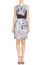 Women's Betsey Johnson Print Scuba Sheath Dress, Size 12 - Purple - $757,08 MXN