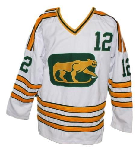 Pat stapleton  12 chicago cougars retro hockey jersey white   1