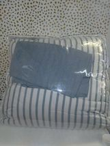 Luxury Blue & White Reversible Striped Down Alternative Comforter AND Shams image 4