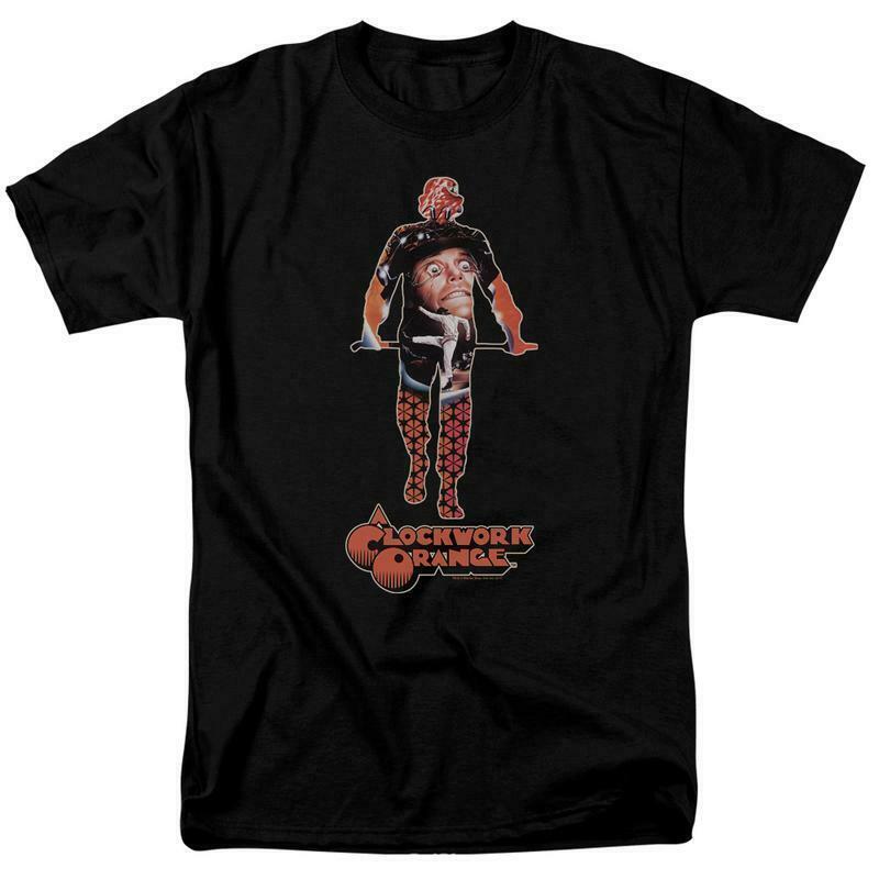 A clockwork orange alex t shirt retro 1970 s cult movie poster black wbm578