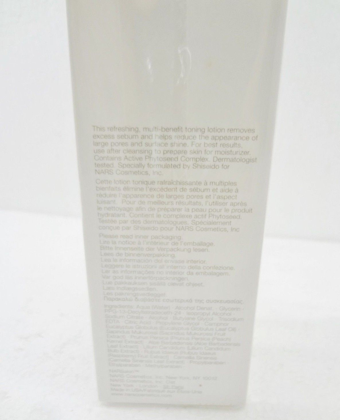 Nars Skin Balancing Toning Lotion 6.7 oz 200ml NEW