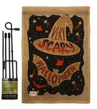 Very Scary Halloween Burlap - Impressions Decorative Metal Garden Pole F... - $33.97