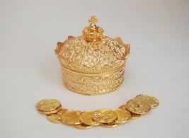 Elegant Gold Crown Wedding Arras de boda with 13 coins set - $32.66