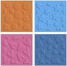 QuicKutz Shape Patterns Embossing Folders, Set of 4 #EF-2x2-022