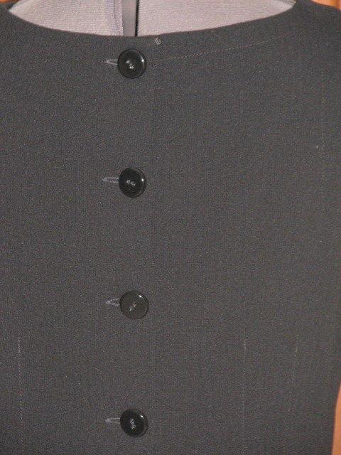 LIZ CLAIBORNE black sleeveless polyester blend 2 piece dress 8 (TC107C8G)