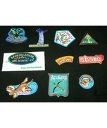 (10) Ten Mixed GIRL SCOUTS OFFICIAL Patches Badges for Sash, Vest Journe... - $18.59