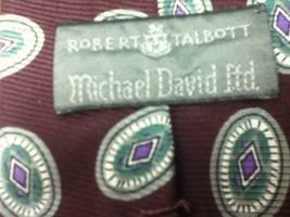 Robert Talbott, Green - Burgundy  Silk Neck Tie - $11.35