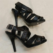 BCBG Girls Strappy High Heel Peep toe Platform Shoes Patent Leather - $20.00
