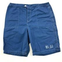 Vintage Polo Ralph Lauren Shorts Größe XL Blau Baumwolle Freizeit Rl-67 - $28.61