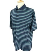 Nike Golf Men's Fit Dry Short Sleeve Blue Stripe Polo Shirt XL - $20.78