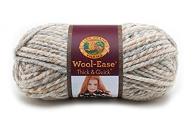 Lion Brand Yarn 640536 WoolEase Thick Quick Fossil h375 l850 w375 w31 64... - $26.12 CAD