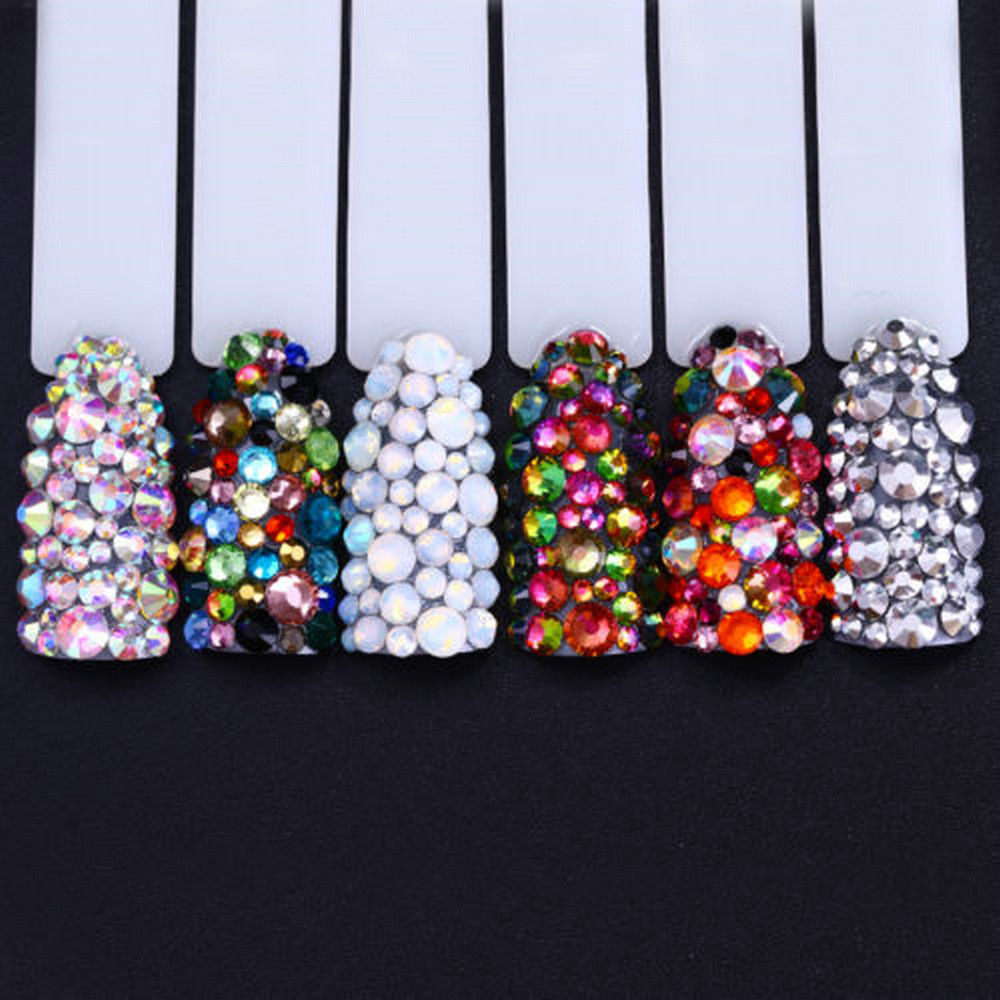 3g Mixed 3D Nail Art Glitters Acrylic Rhinestones Tips Manicure Decoration DIY