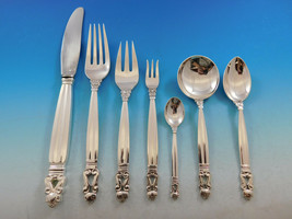 Acorn by Georg Jensen Sterling Silver Dinner Flatware Set 12 Service 89 ... - $8,010.00