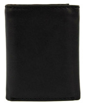 Levi's Men's Coated Leather Credit Card Trifold Wallet Embossed Logo Black image 2