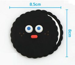 Brunch Brother popped Eye Handheld Mirror Makeup Hand Mirror (Black Pompom) image 6