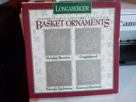 Longaberger Pewter Basket Ornaments Commemorative Christmas Collection 1996 NIB - $16.01
