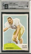 1960 Fleer #67 Sam McCord GAI 8 NM MT - $69.25