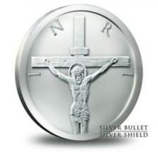 2015 2oz Silver Shield Christ Crucifixion In Capsule - $59.39