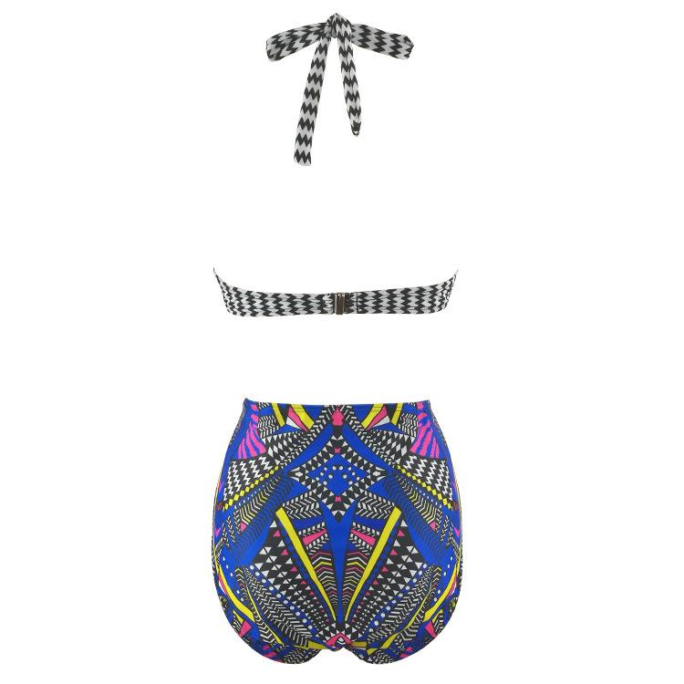 Women's Underwire Push Up Plus Size Two Pieces Bikini Set L-3XL