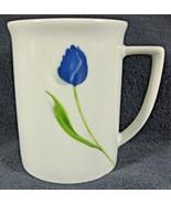 Studio Nova CD302 Blue Rhapsody Coffee Mug Cup Floral Fine Porcelain (M4) - $14.50