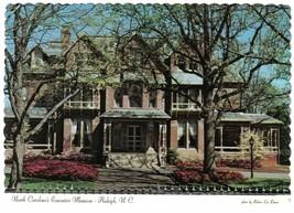 North Carolina Postcard Raleigh Executive Mansion North Blount St - $2.84