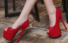 women heels, platform heel, 15 cm heel, stiletto, candy color,size 3-8.5, red - $68.80