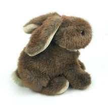 "Vintage Dakin 1986 Bunny Rabbit Sitting 9"" Brown Plush Stuffed Animal Fl... - $41.58"