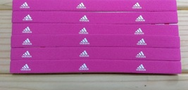 New Unisex Adidas Running HEADBAND Soft Pink White Logo One Size All Spo... - $6.00