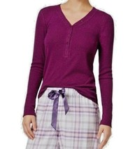 Top XXL Plus Alfani NWT  Purple Rib Long Sleeve Pajama Casual Shirt TM632 - $27.46