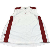 Nike Air Jordan Retro Basketball Tank Top Sz XL Mens White Red - $29.92