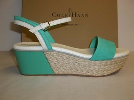 Cole Haan Size 9 M ARDEN WEDGE Green Thumb Leather Sandals New Womens Shoes - $137.61