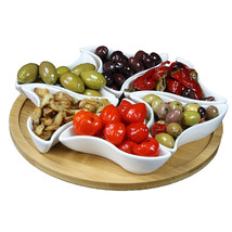 Elama Signature Modern 10.75 Inch 7pc Lazy Susan Appetizer and Condiment... - $43.63