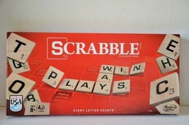 Hasbro Scrabble Crossword Game New Wooden Tiles 2013 New never Used Made... - $9.89